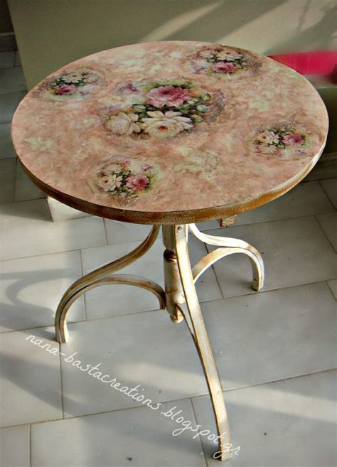 decoupage on wood table decoupage on small wooden table nana s creations