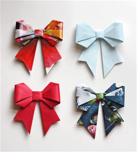 origami bows make origami bows from magazine pages how about orange