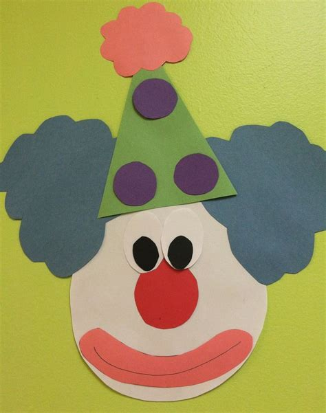 circus crafts for clown decoration or craft for preschool craft not