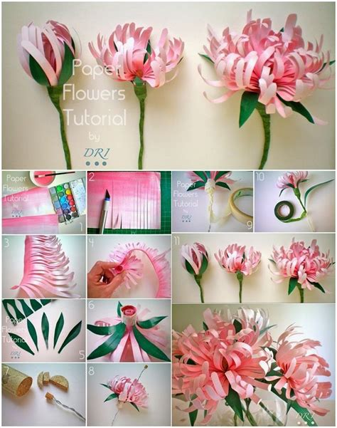 floral craft paper best 25 paper flowers craft ideas on