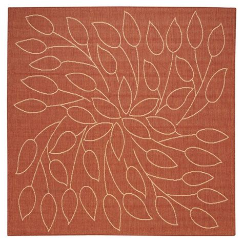 home decorators area rugs home decorators collection persimmon terra cotta 7 ft 6