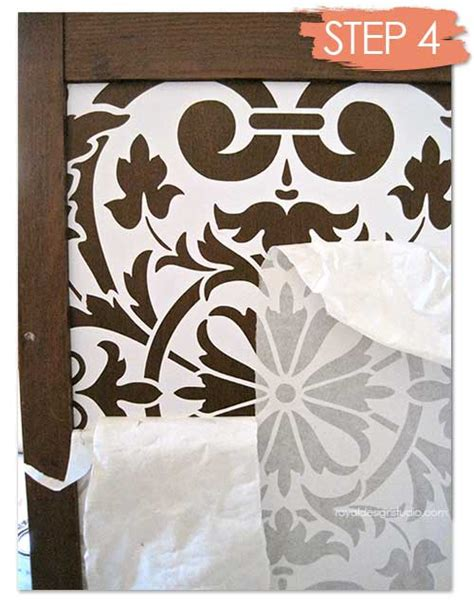 chalk paint stencils how to stencil wood furniture with chalk paint 174 decorative