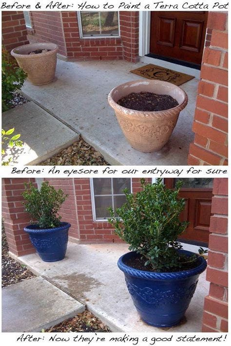 spray painting terracotta pots 18 spectacular diy makeovers that prove spray paint is