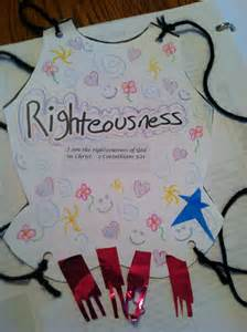 breastplate of righteousness craft for breastplate of rightousness lesson 32 tot town ministry