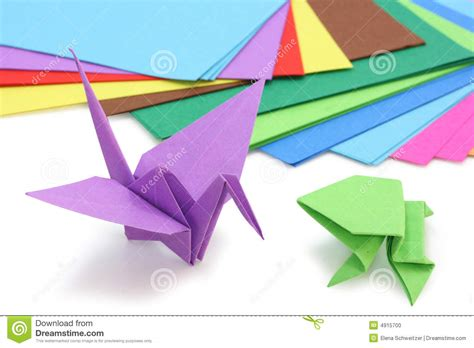 3d origami figures origami paper and figures stock photo image 4915700