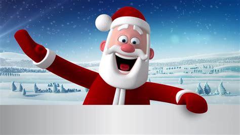 santa claus animations 3d new year greeting card animation of santa