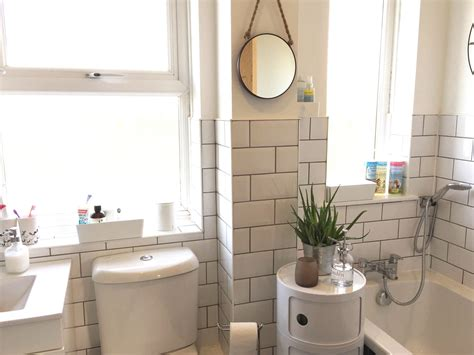 White Tile Bathroom by White Bathroom With White Metro Tiles And Grey Grout