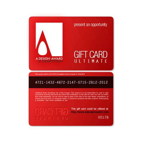 gift card designs a design award and competition gift cards