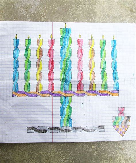 Hanukkah Drawings On Graph Paper Re Visited Creative