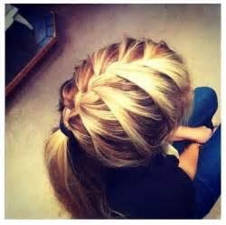 how to braid hair with on the end 25 best ideas about braid ponytail on