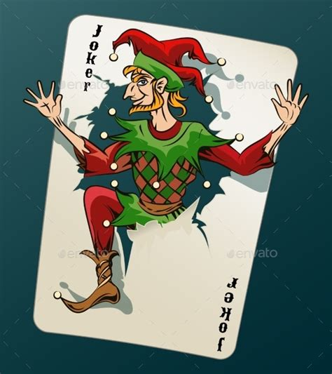 how to make a card jump out of the deck cartooned joker jumping out from card by neyro2008