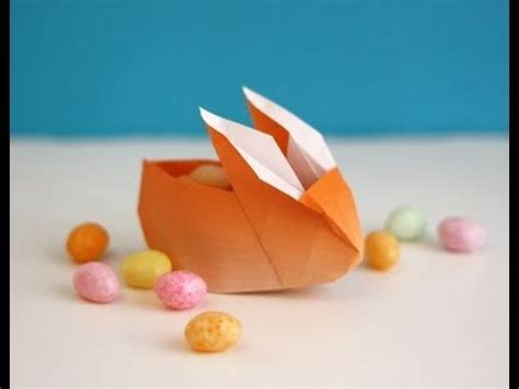 easter origami bunny origami easter bunny container basket hd