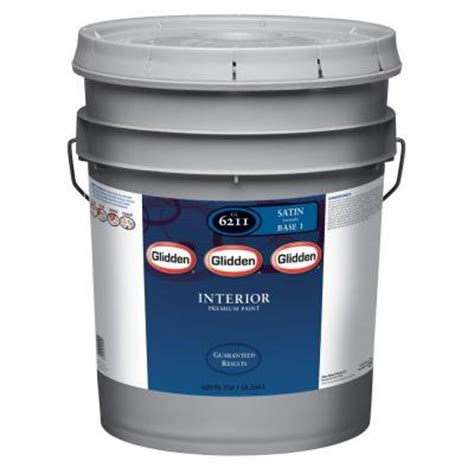 home depot 5 gallon interior paint glidden premium 5 gal white satin interior paint gln6211 05 the home depot