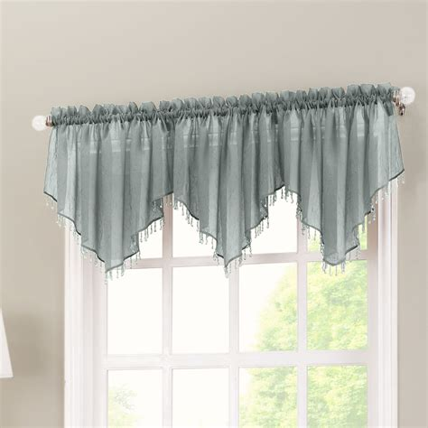 kitchen curtain valance no 918 crushed sheer voile 51 quot curtain valance reviews