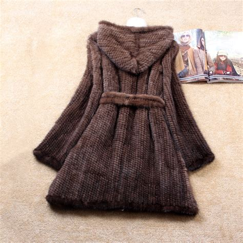 real knitting aliexpress buy winter genuine knitted mink
