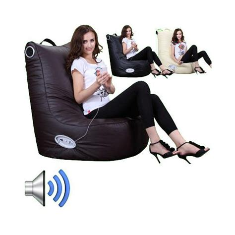 Bean Bag Chairs With Speakers by Speaker Leather Beanbag High Back Chair Gamer Gaming
