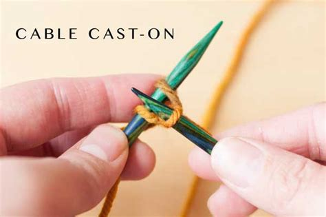 cable cast on knitting necessary knitting learn the cable cast on step by step