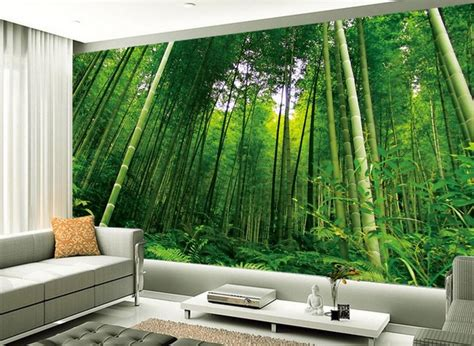 wallpaper design home decoration aliexpress buy fashion tv backdrop bamboo scenery