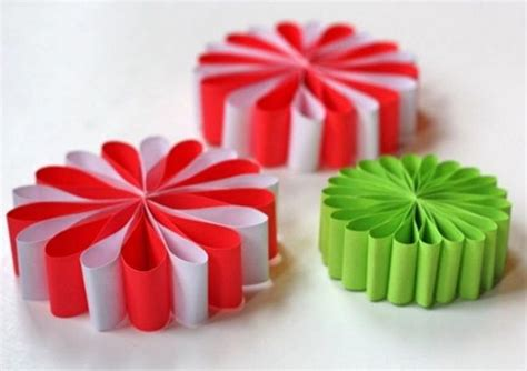 paper craft ornaments simple paper flower ornaments allfreechristmascrafts