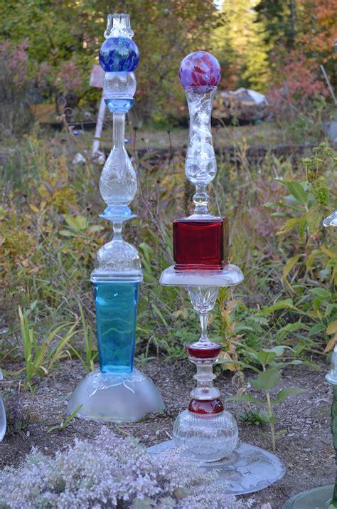 Garden Glass Macgirlver Garden Totems Recycled Glass