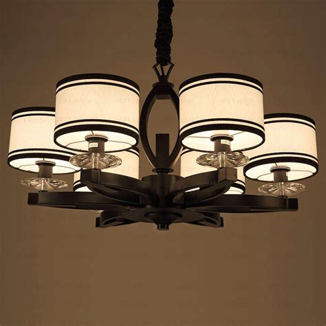 drum shaped chandeliers asian 6 light drum shaped fabric shade discount chandeliers