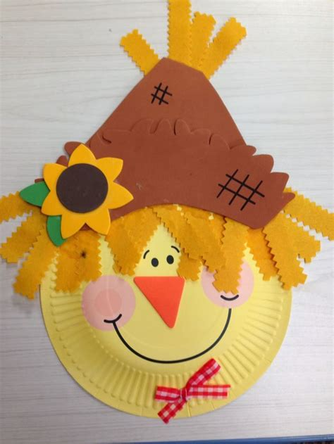 paper plate scarecrow craft 1000 ideas about scarecrow crafts on fall
