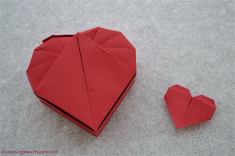 origami hearts lets make origami box