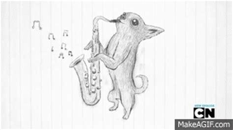 saxophone chihuahua on make a gif