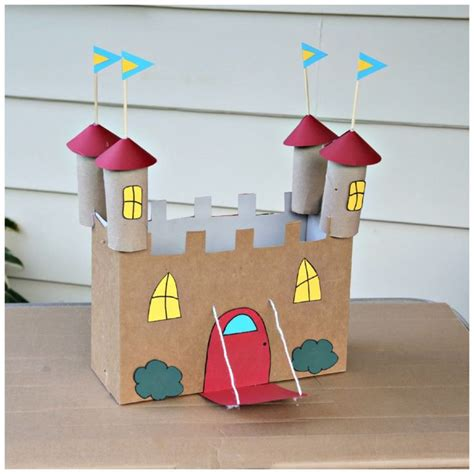 cardboard box crafts for 1000 ideas about castle crafts on cardboard