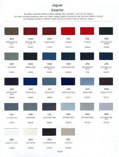 2001 Jaguar Paint Color Sle Chips Card Oem Colors Ebay