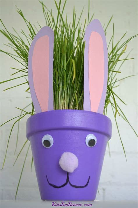 flower pot kid craft easter bunny flower pot craft idea the kid s review