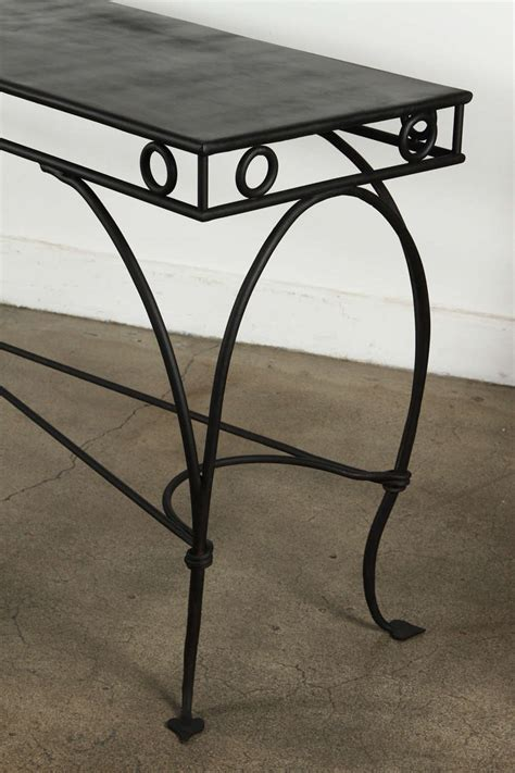 console or sofa tables wrought iron moroccan style console or sofa table at 1stdibs
