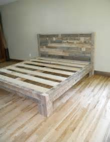 home made bed frame 1000 ideas about diy bed frame on pallet