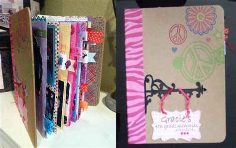 ideas for to make at school how to make a school mini scrapbook album gracie s 4th