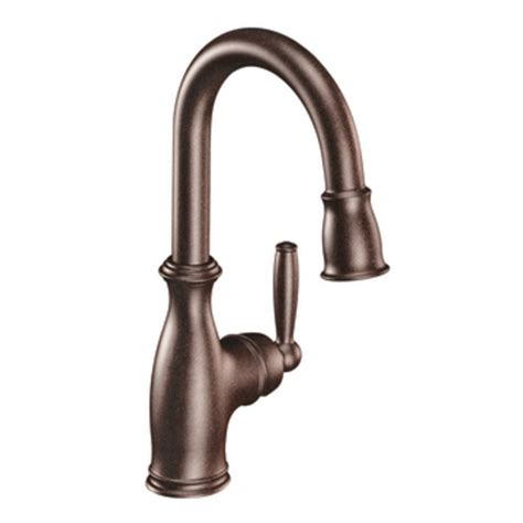 moen brantford kitchen faucet shop moen brantford rubbed bronze 1 handle bar and