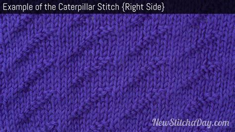 what does right side in knitting the caterpillar stitch knitting stitch 173 new