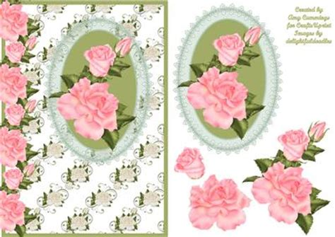 how to do decoupage cards green lace and pink decoupage card front cup80587
