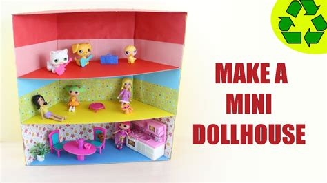mini craft projects how to make a mini dollhouse ver 1 easy doll