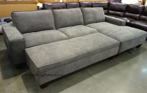sectional sofa with chaise costco costco chaise sofa with storage ottoman 849 99 frugal