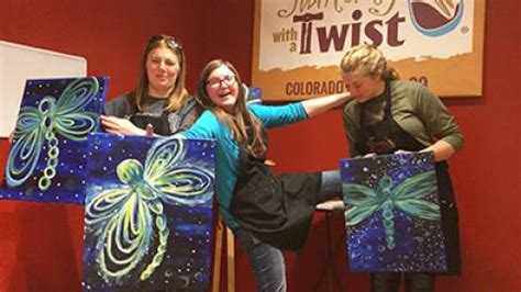 paint with a twist downtown team building colorado springs vacation tourism