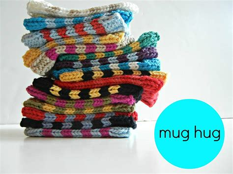 knitted mug hugs free pattern mug hug coffee protectors