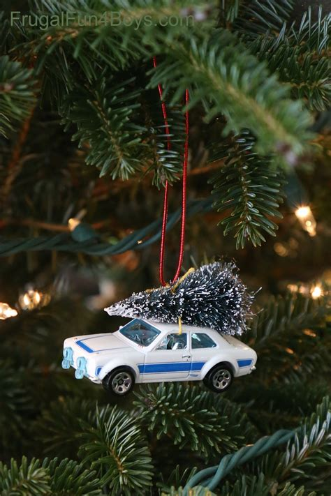 car ornament bringing home the tree car ornament for to