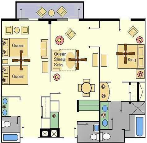 1 Bedroom Cottage Floor Plans accommodations and theming at disney s boardwalk inn