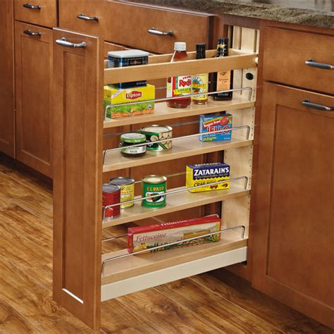 pull out kitchen cabinet organizers rev a shelf wood pull out organizers with soft