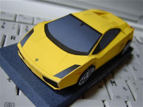 paper craft car car papercraft lamborghini gallardo free papercrafts