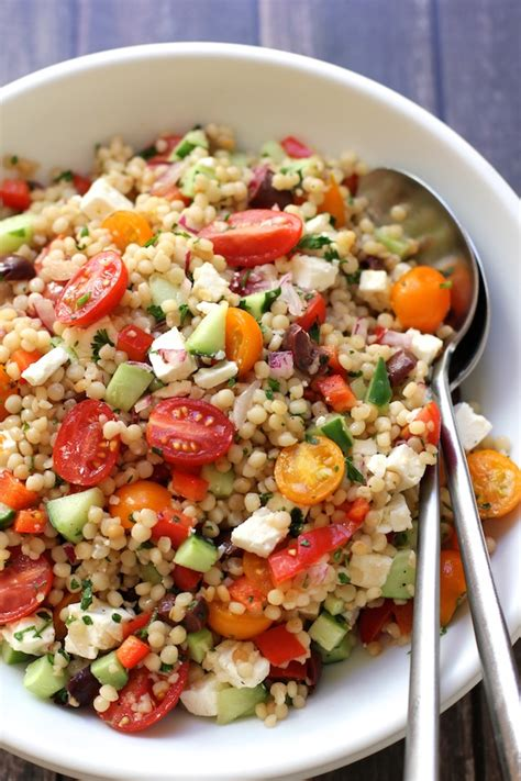 Israeli Couscous Salad with Summer Vegetables - Green ...