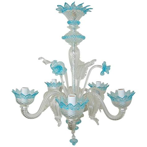 antique murano glass chandelier chandelier murano glass of with blue accents for