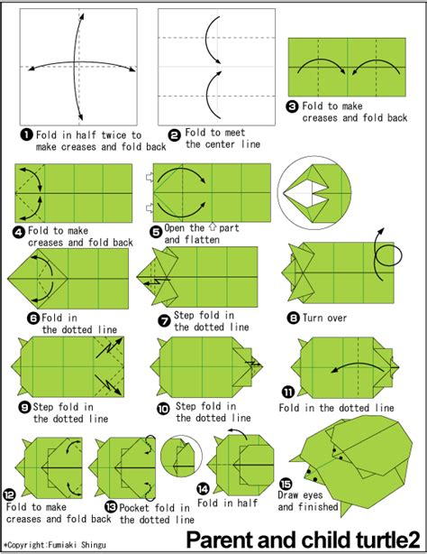 how to make an origami turtle step by step origami piggyback ride grasshopper origami and such