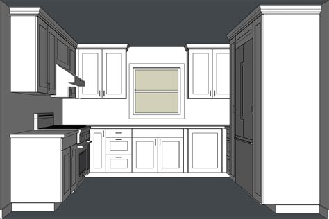 Kitchen Cabinet End Shelf by Designing Kitchen Cabinets With Sketchup Popular