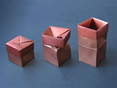 twisted origami one twist box anine cleve christensen happy folding